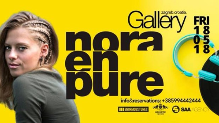 Nora En Pure at Gallery Club 31.08. Events Zagreb