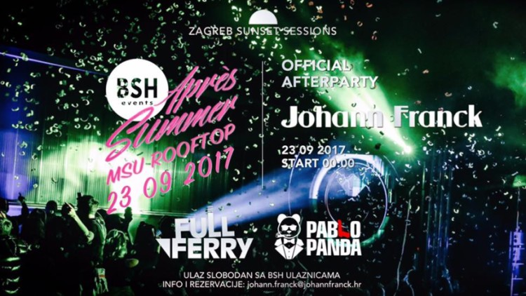 BSH Après Summer Official Afterparty at Johann Franck Events Zagreb