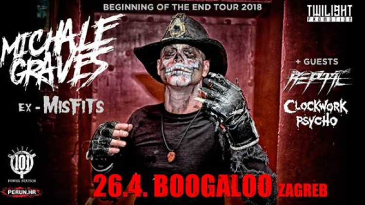 Michale Graves(ex Misfits)+Clockwork Psycho/ 26 4 /Boogaloo / Zg Events Zagreb