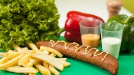 Vege Sausage with French Fries