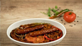 Baked Beans with Vegetables and Sausage