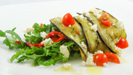 Eggplant and Goat Cheese Salad