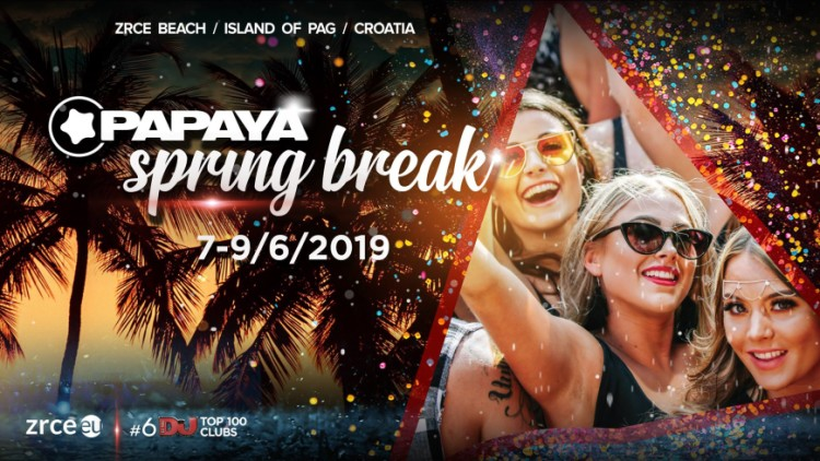 Papaya Spring Break 2019 Events Novalja