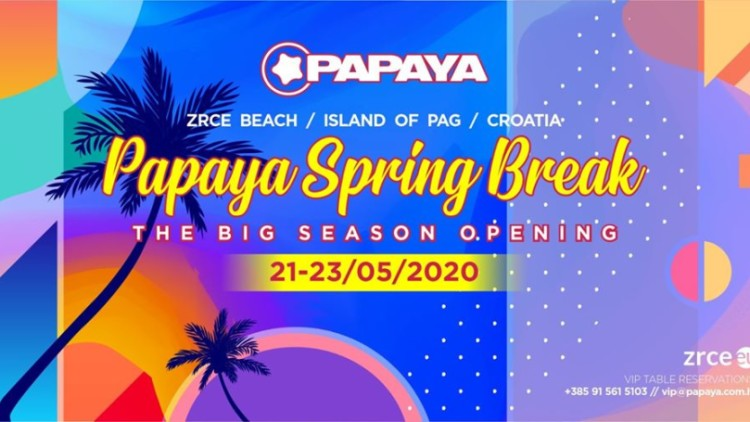 Season Opening - Papaya Spring Break Events Novalja
