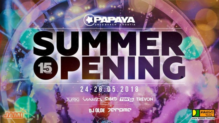 Summer Opening 2018 Events Novalja