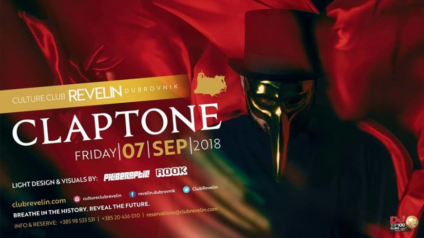 Claptone | 07.09.2018 at Culture Club Revelin Bars Dubrovnik