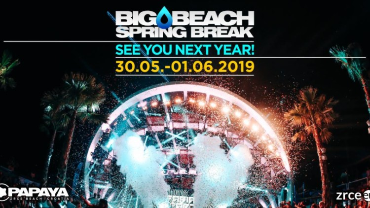 Big Beach Spring Break Zrce 2019 Events Novalja