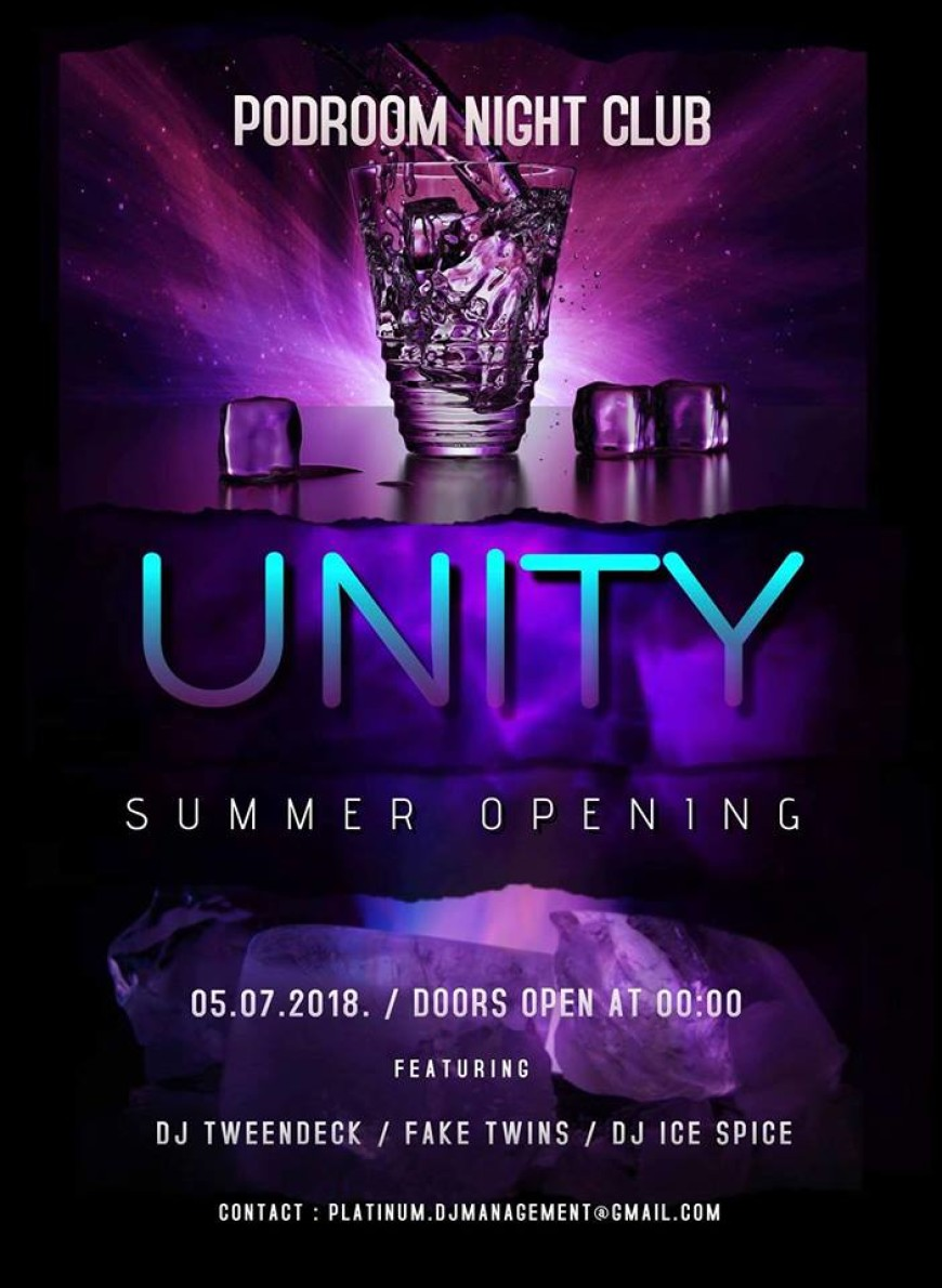 UNITY ~SUMMER OPENING~ PODROOM NIGHT CLUB 05.07.2018. Barovi Zadar