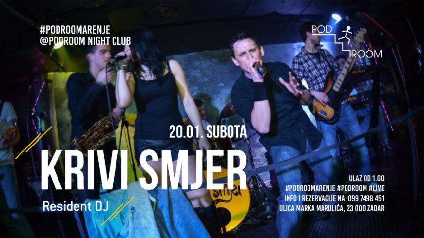 KRIVI SMJER Live @ Podroom night club Bars Zadar
