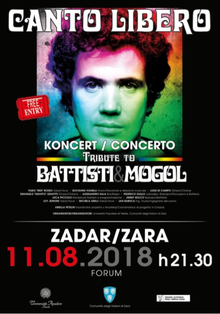 TRIBUTE TO BATTISTI & MOGOL: GRUPE IL MIO CANTO LIBERO | FORUM | 11.08. U 21:30 SATI