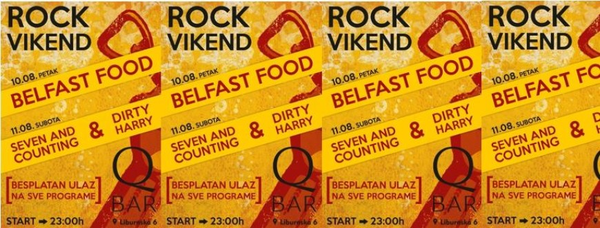 Rock vikend: BelfastFood, Dirty Harry i Seven and counting