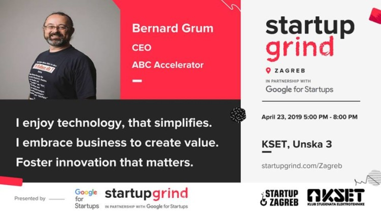 Fireside chat with Bernard Grum, CEO at ABC Accelerator Events Zagreb